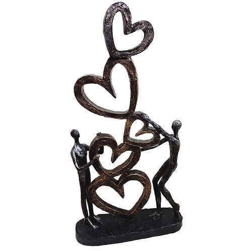"""פסל אומנותי """"אהבה באויר"""" מבית פסלי היוקרה """"GRACIA GALLERY"""""""