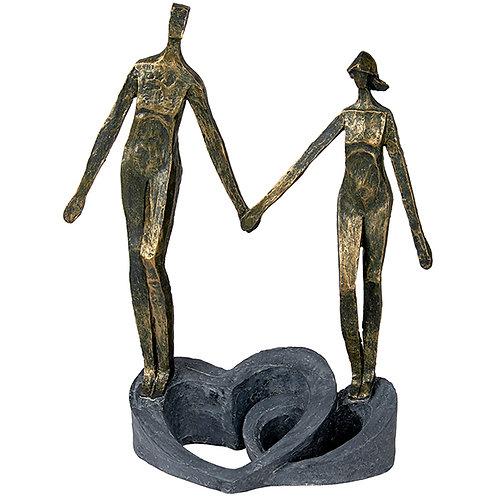 """פסל אומנותי """"אוחזים באהבה"""" מבית פסלי היוקרה """"GRACIA GALLERY"""""""