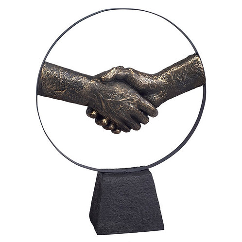 """פסל אומנותי """"יד לוחצת יד"""" מבית פסלי היוקרה """"GRACIA GALLERY"""""""