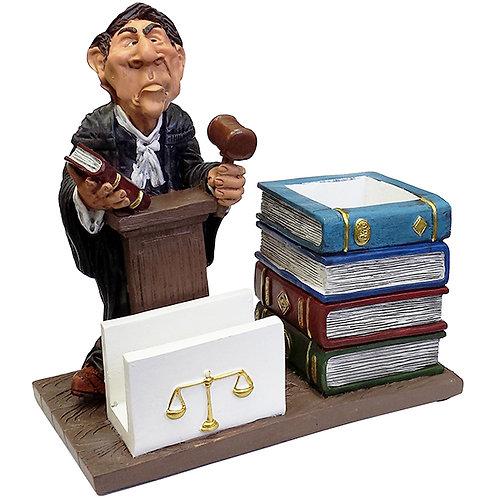 מעמד פסל עורך-דין עם כוס לעטים ומעמד כרט´ ביקור