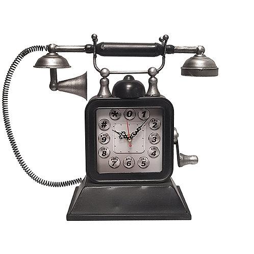 שעון שולחני בעיצוב רטרו בצורת טלפון עתיק