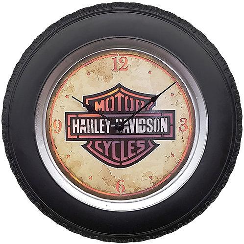 """שעון קיר HARLEY הארלי דוידסון עם תאורת לד ע""""י שלט רחוק"""