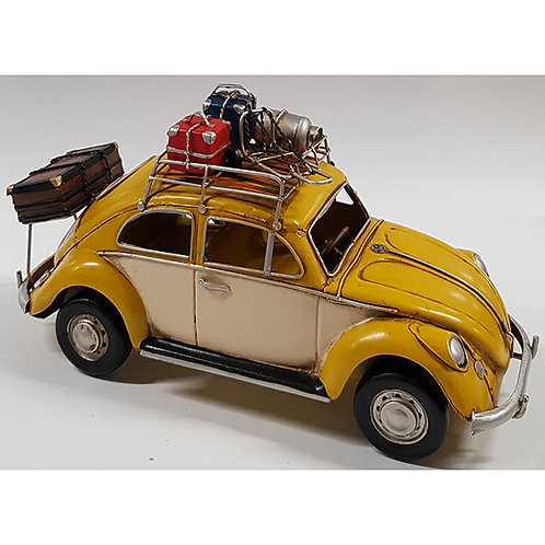 """מכונית חיפושית רטרו """"Beetle"""" צהובה"""