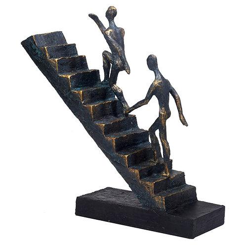 """פסל אומנותי """"עולים לפיסגה"""" מבית פסלי היוקרה """"GRACIA GALLERY"""""""