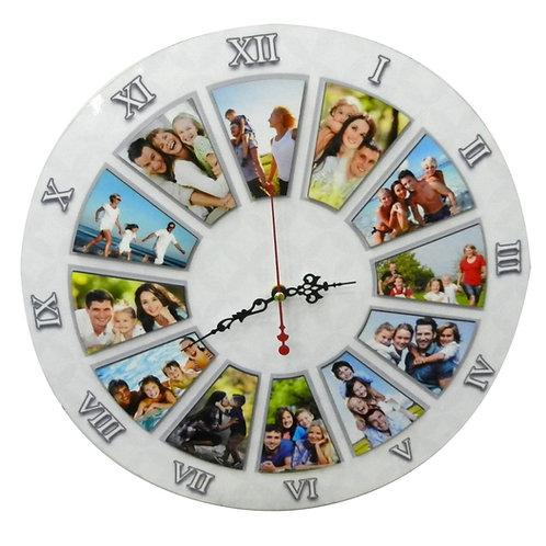 שעון רומי מעץ עם תמונות
