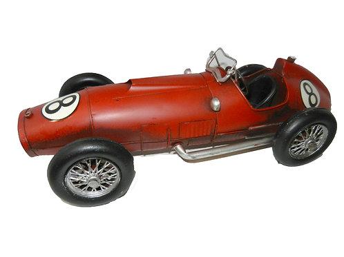 מכונית רטרו מרוץ אדומה