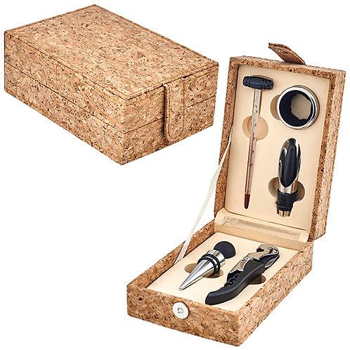 מארז אביזרים 5 חלקים ליין באריזת מתנה עץ שעם