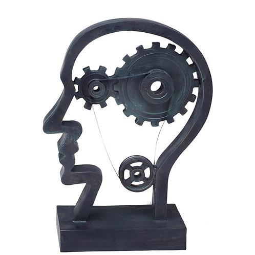 """פסל אומנותי """"גלגלי המוח וראש האדם"""" מבית פסלי היוקרה """"GRACIA GALLERY"""""""