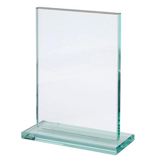 מגן הוקרה זכוכית מלבני על בסיס זכוכית