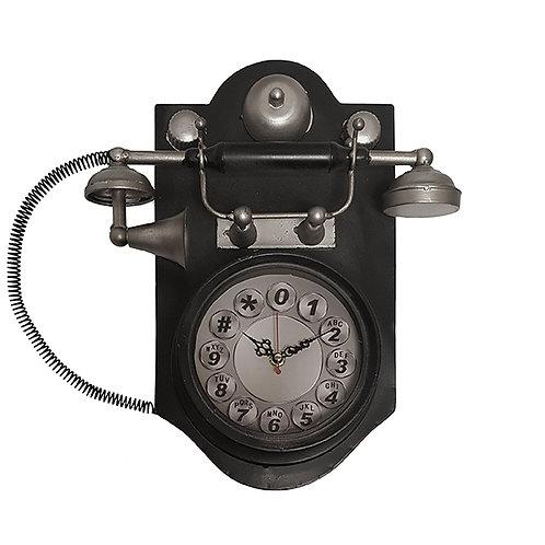 שעון קיר בעיצוב רטרו בצורת טלפון עתיק