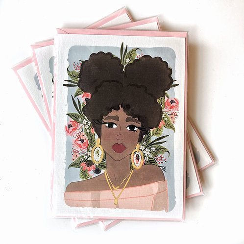 Blooming Babe Postcard
