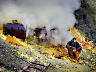 Miner, Kawah IJen