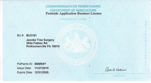 Pesticide applicator business license.jp