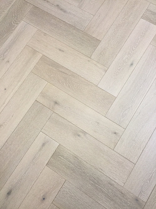 Engineered Click Herringbone Flooring White Washed BV-H1459