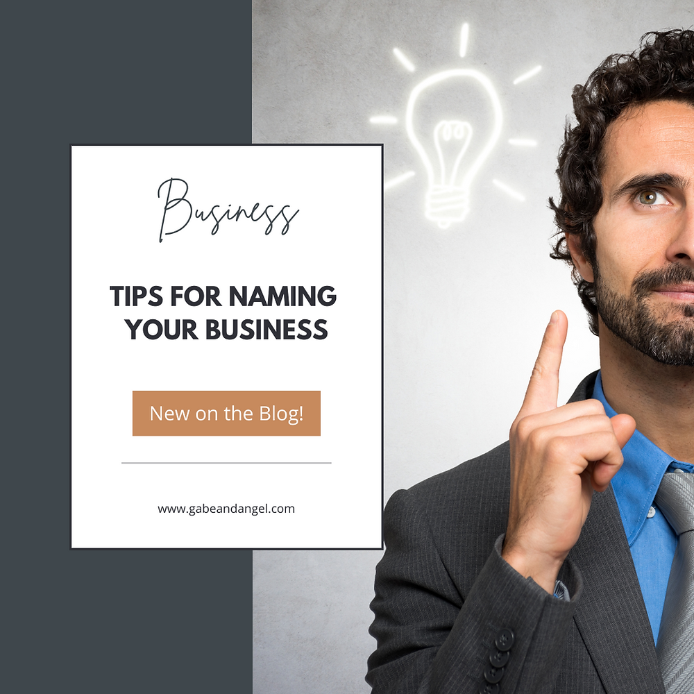 Tips For Naming Your Business