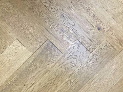 Engineered Click Herringbone Flooring Smoked&UV Oiled BV-H1453