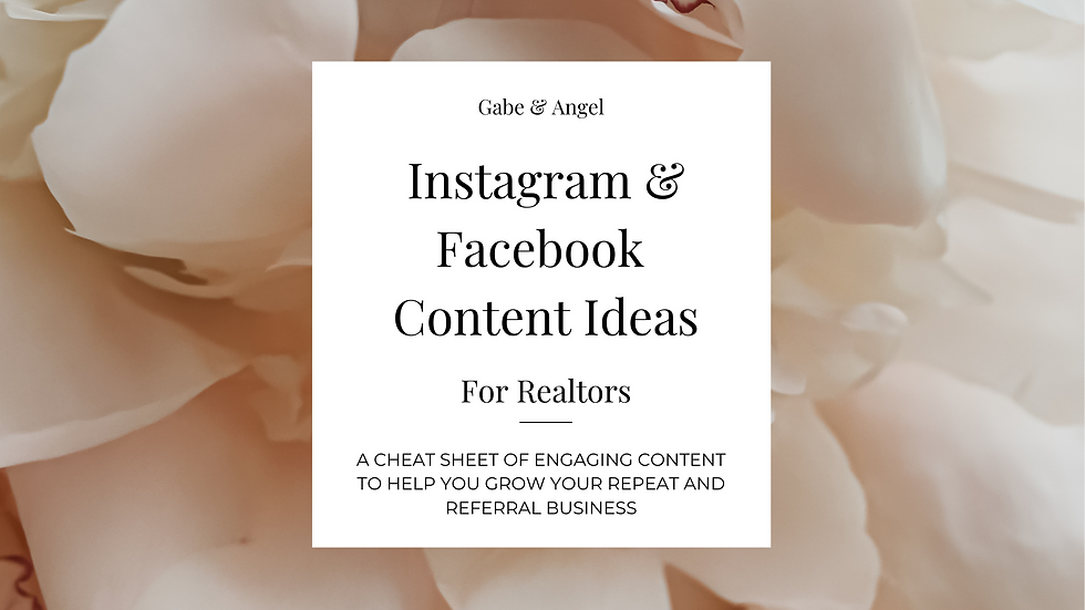 Instagram & Facebook Content Ideas For Realtors