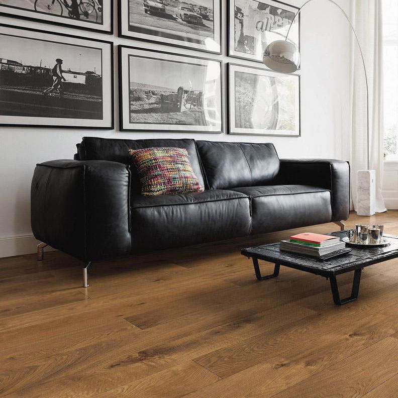 Wandplank 30 Diep.Haro 220mm Plank 1 Strip Plaza 4v Smoked Oak Universal Deep Brushed