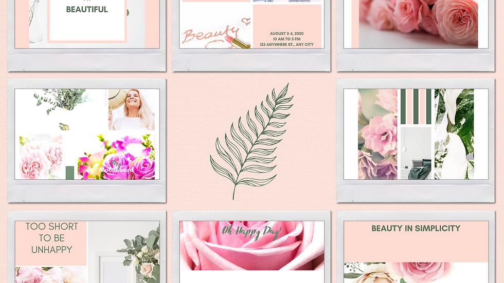 Blush Theme Instagram Templates