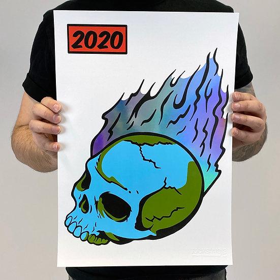 2020 RAINBOW FOIL PRINT 42 x 29.7 CM