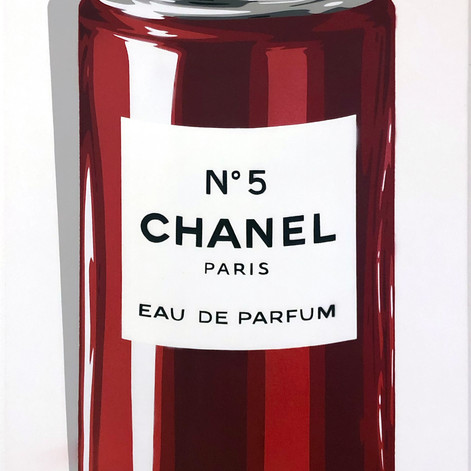 40 x 20 tommers Chanel Spray Can Red