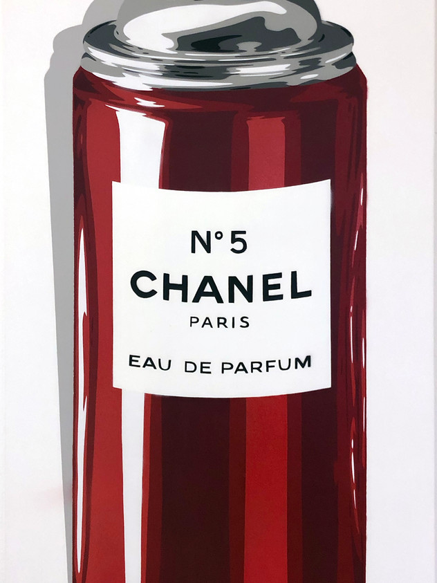 "40 ""X 20"" CHANEL LTD RØDT UTGAVE NR 5 SPRAY"