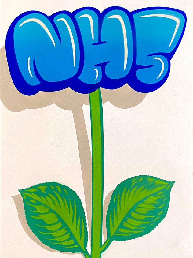 A2 NHS FLOWER GRAFFITI