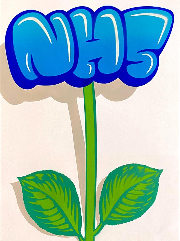 A2 NHS FLOWER GRAFFITI