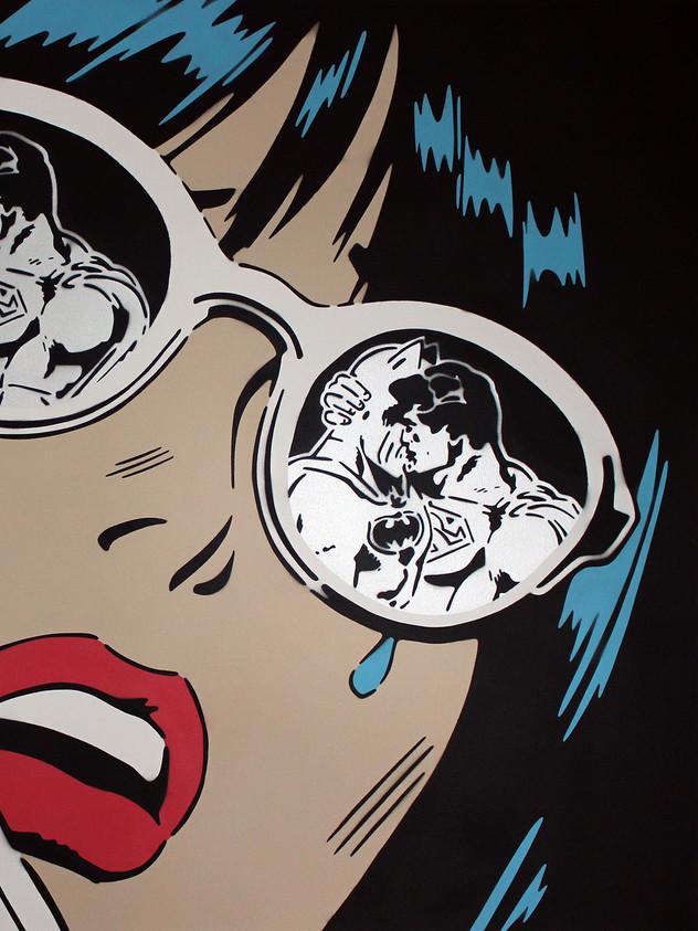 """LENTES AZULES REFLEXIONES 60 """"X 48"""""""