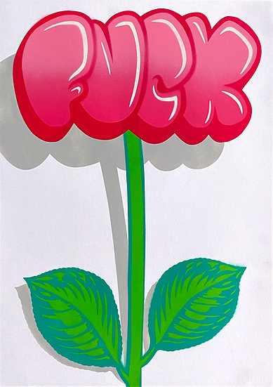 42 x 59,4 cm FUCK Flower (Pink Edition)