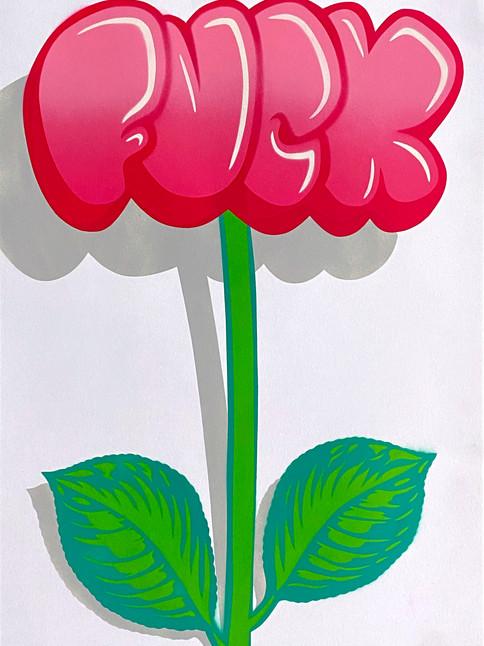 A2 FUCK FLOWER GRAFFITI