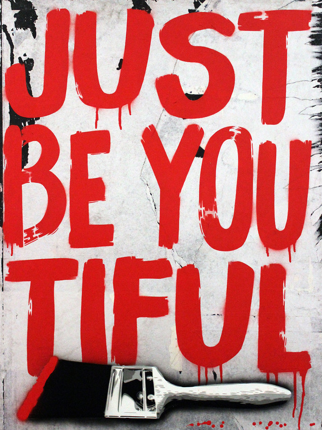 "40"" X 30"" JUST BE YOU TIFUL RED BRUSH"