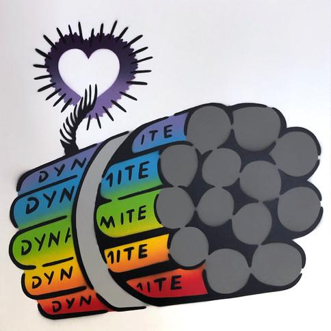50 x 50 sm Dynamite Love Bomb Rainbow / White