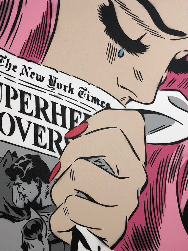 "30 ""X 30"" NEW YORK TIMES PINK"