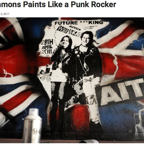 펑크 로커와 같은 리치 시몬스 페인트