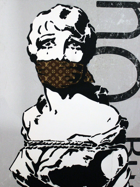 """48 """"X 36"""" LIBERTAD DE EXPRESIÓN ORO"""