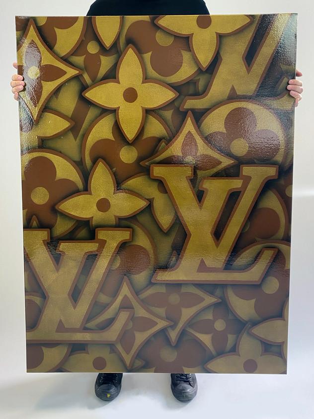 "48 ""X 36"" LOUIS VUITTON BROWN GOLD"