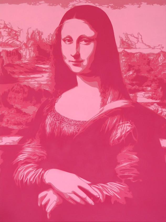 40英寸X 30英寸MONA LISA粉色