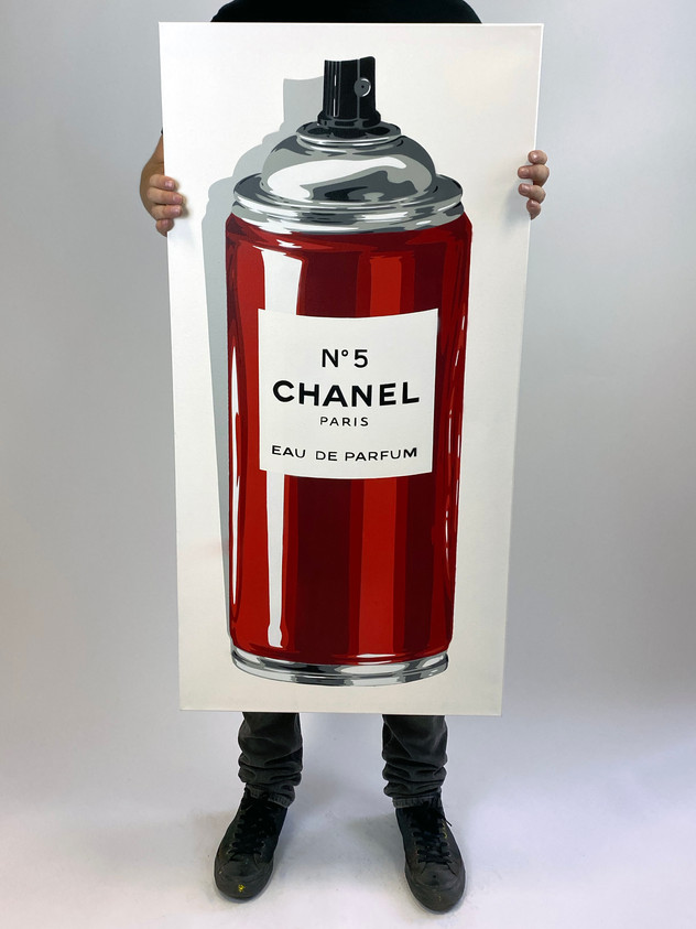 """40"""" X 20"""" CHANEL No5 RED"""