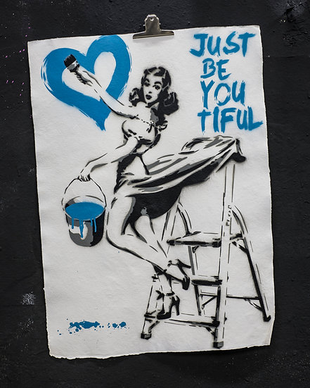 JUST BE YOU TIFUL PIN UP BLUE PAPER EDITION OF 5