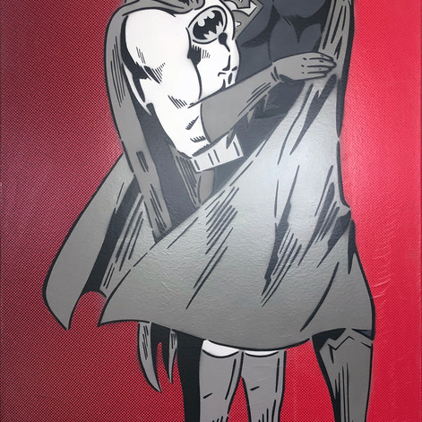 48 x 30 inch Between The Capes Monochrome / Red