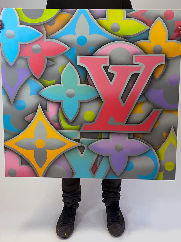 "40 ""x 40"" LOUIS VUITTON GRÅ FARGE"