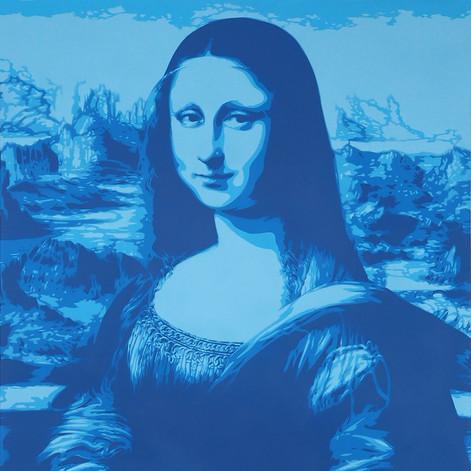 40 x 30 pulgadas Mona Lisa Blue