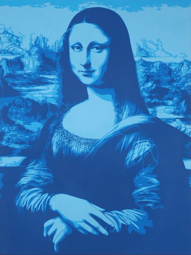 40吋X 30吋MONA LISA藍色