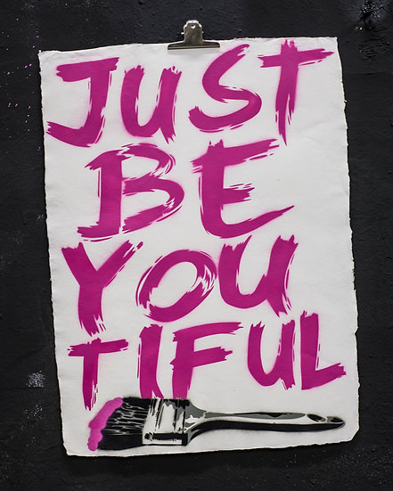 JUST BE YOU TIFUL PINK PAPER EDITION OF 5