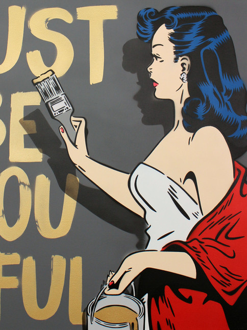 """30"""" X 30"""" JUST BE YOU TIFUL PIN UP GOLD"""