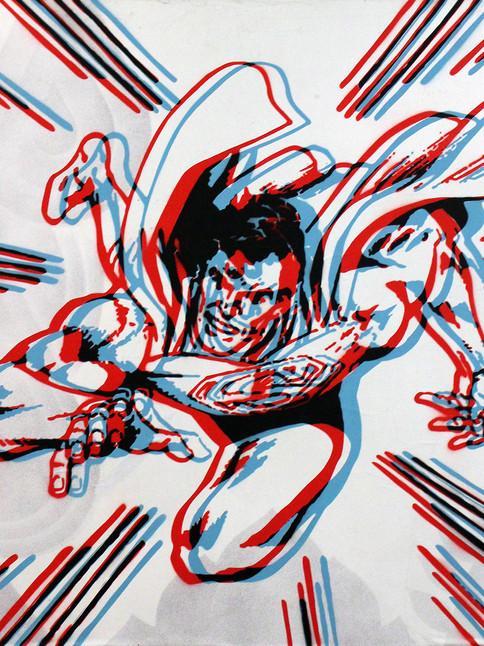 """SUPERMAN 3D DE 40 """"X 40"""""""