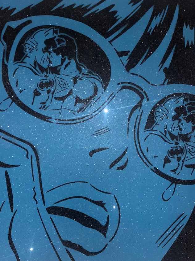 "36"" X 36"" REFLECTIONS BLUE DIAMOND DUST"