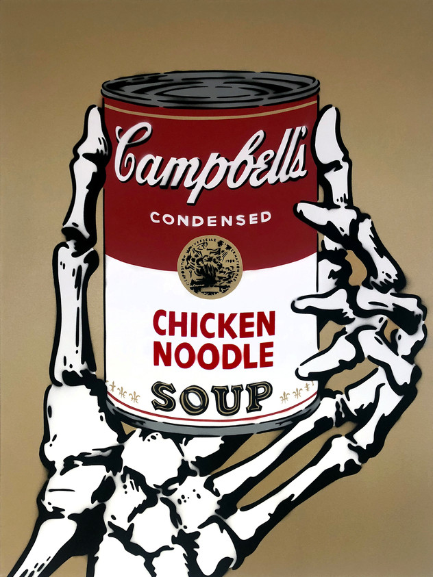 """40 """"X 30"""" CAMPBELLS KYLLING NOODLE SOUP GULL"""
