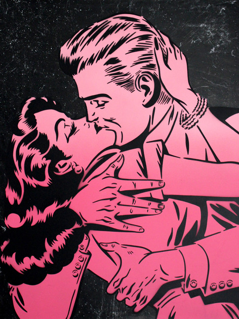"""30 """"X 24"""" THE KISS PINK"""